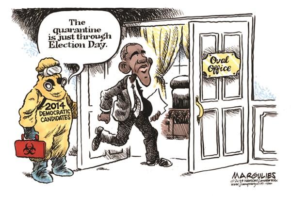 Democratic candidates quarantine Obama for the midterms