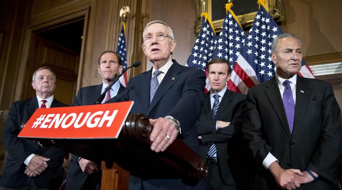 gun control law, Richard Durbin, Richard Blumenthal, Chris Murphy, Charles Schumer, Harry Reid