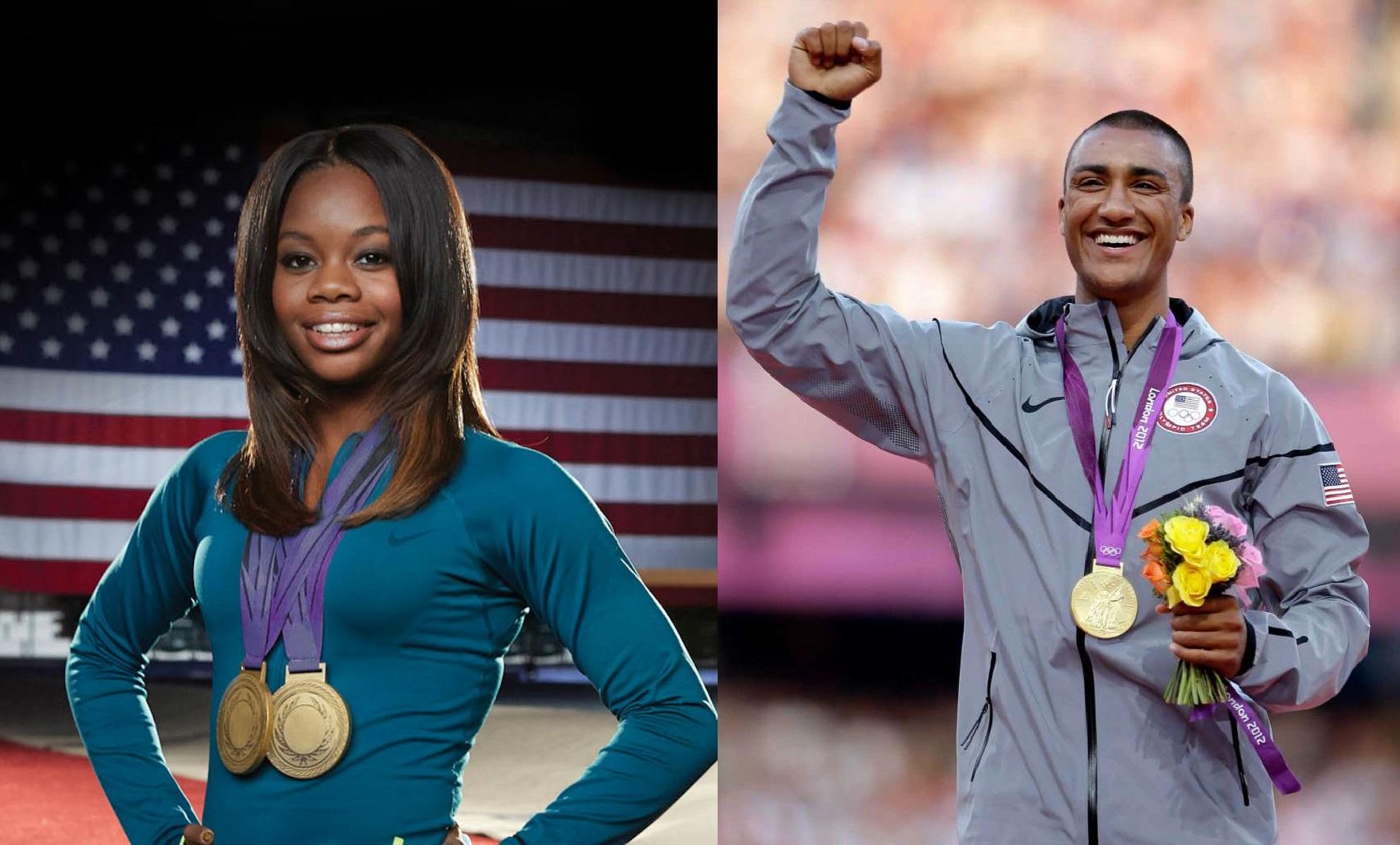 Olympic athletes, Ashton Eaton, Gabby Douglas