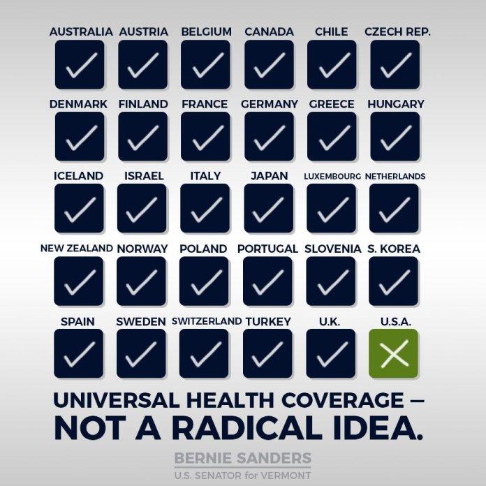 universal healthcare, bernie sanders