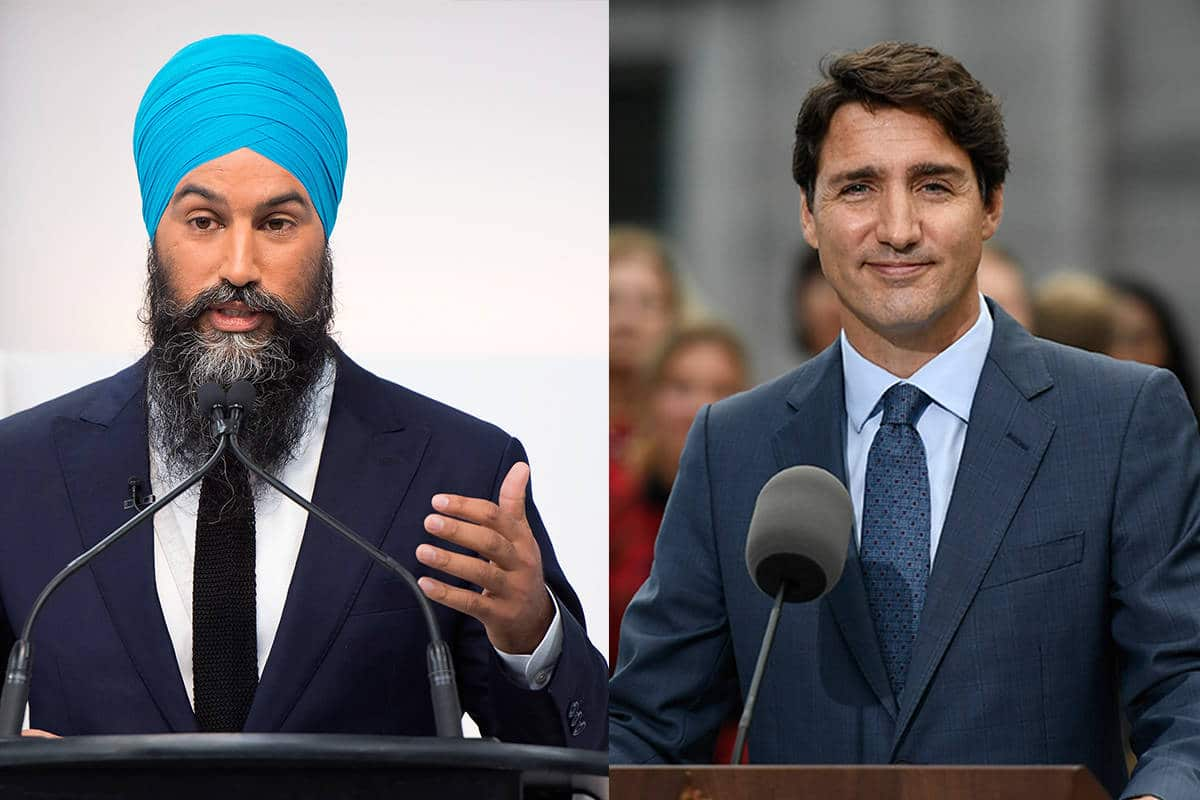 Canadian Response to Covid-19, jagmeet singh, justin trudeau