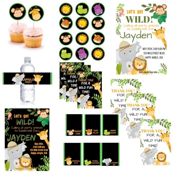 picture regarding Free Printable Jungle Animals named Cost-free PRINTABLE Jungle Safari Birthday Occasion - PARTYLOVIN