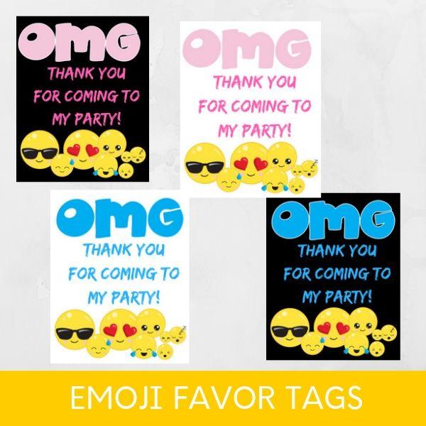 photograph about Printable Emoji called Totally free PRINTABLE Emoji Birthday Social gathering - PARTYLOVIN