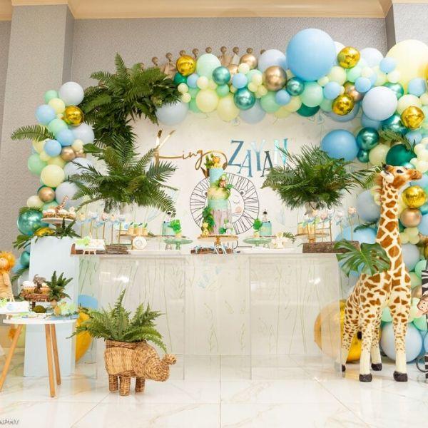 Colorful Creative Safari Birthday Party Ideas