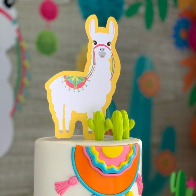 Colorful Llamas Birthday Party Ideas