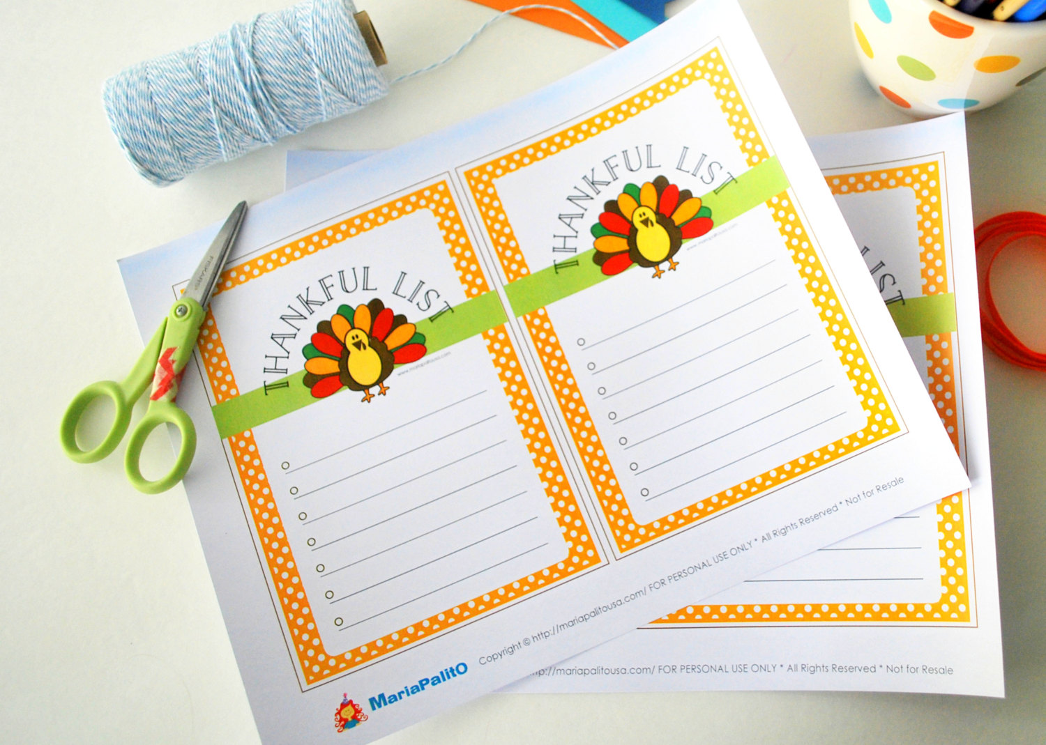 Thanksgiving Family Activity Printable Thankful List For