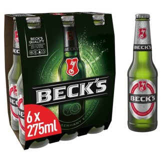 Beck's 6x275ml Bottles