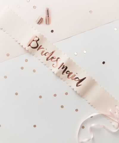 Bridesmaid sashes