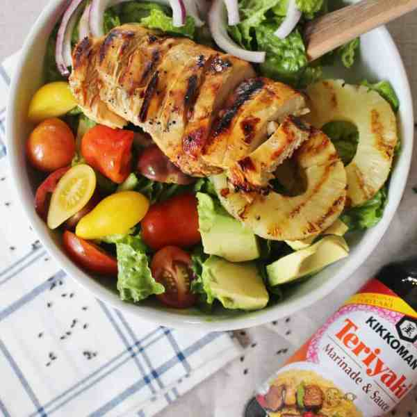 Grille teriyaki chicken salad recipe