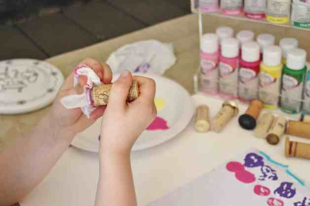 Create art with wine cork stamps