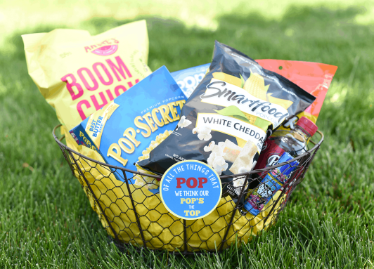 popcorn gift basket for Father's Day