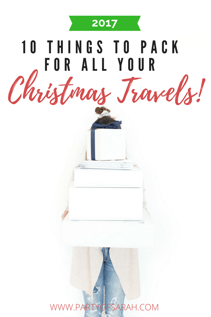 10 Things To Pack For All Your Christmas Travels via partyofsarah.com