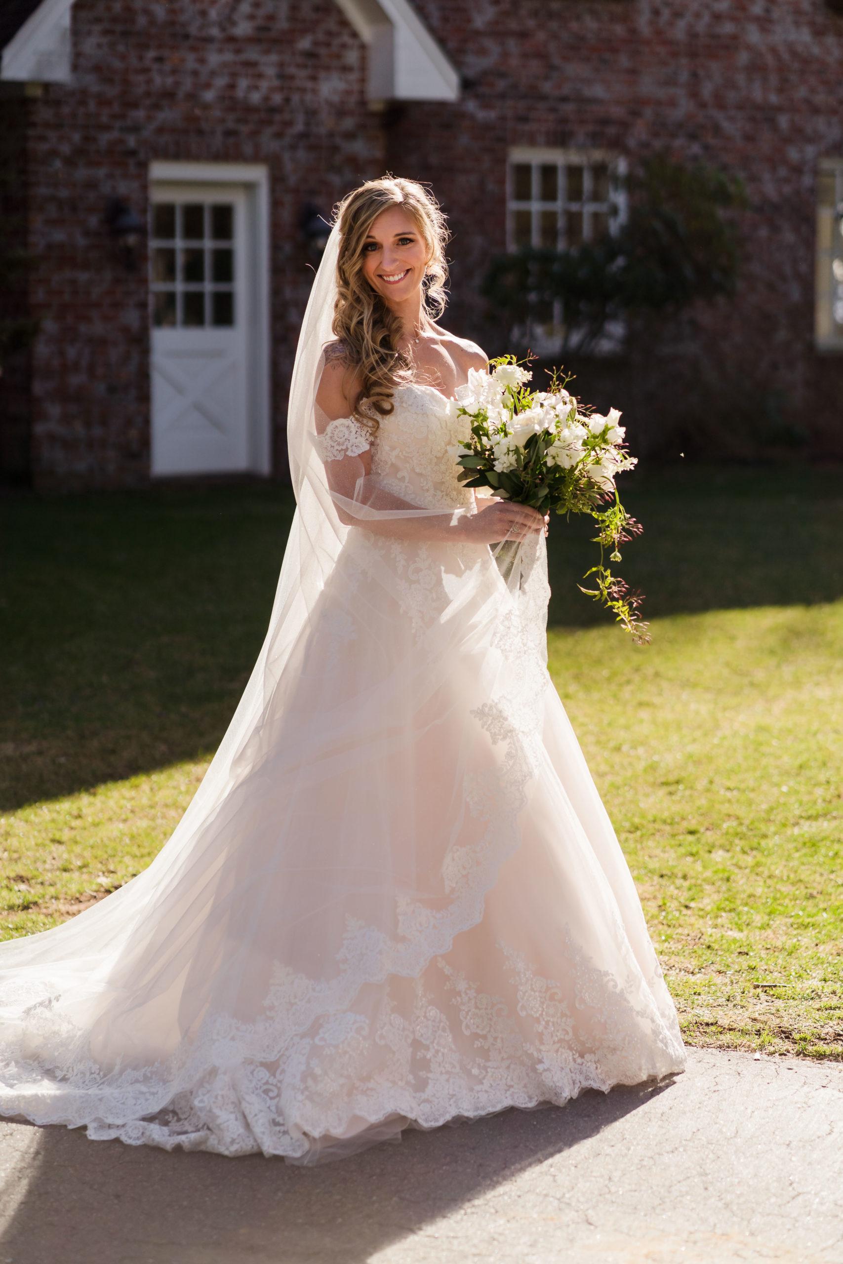 Formal Bridal Portrait at Twickenham House