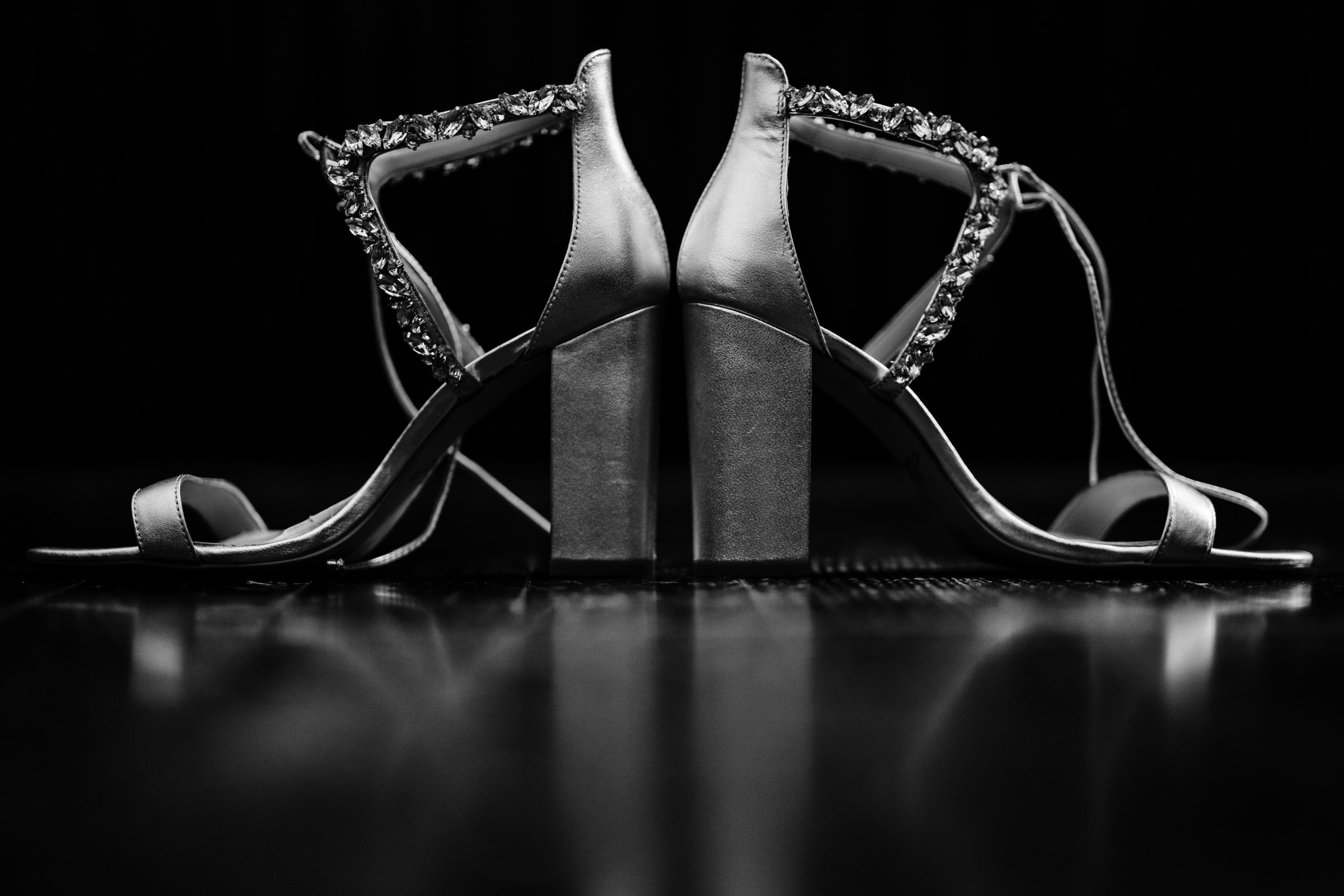 Black and White Wedding Shoes details