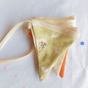 Bunny floral easter bunting