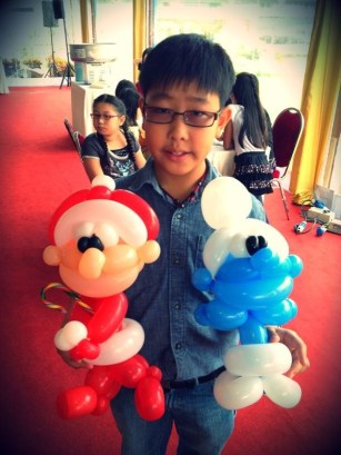 Balloon Santa Claus for Christmas Party
