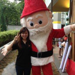 Roving Santa Mascot