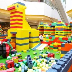 Giant Lego Foam Bricks Playground Set up for Shopping Mall
