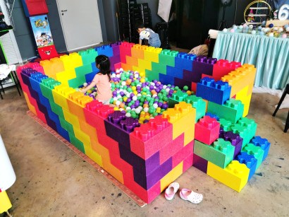 Rainbow Lego Ball Pit Rental