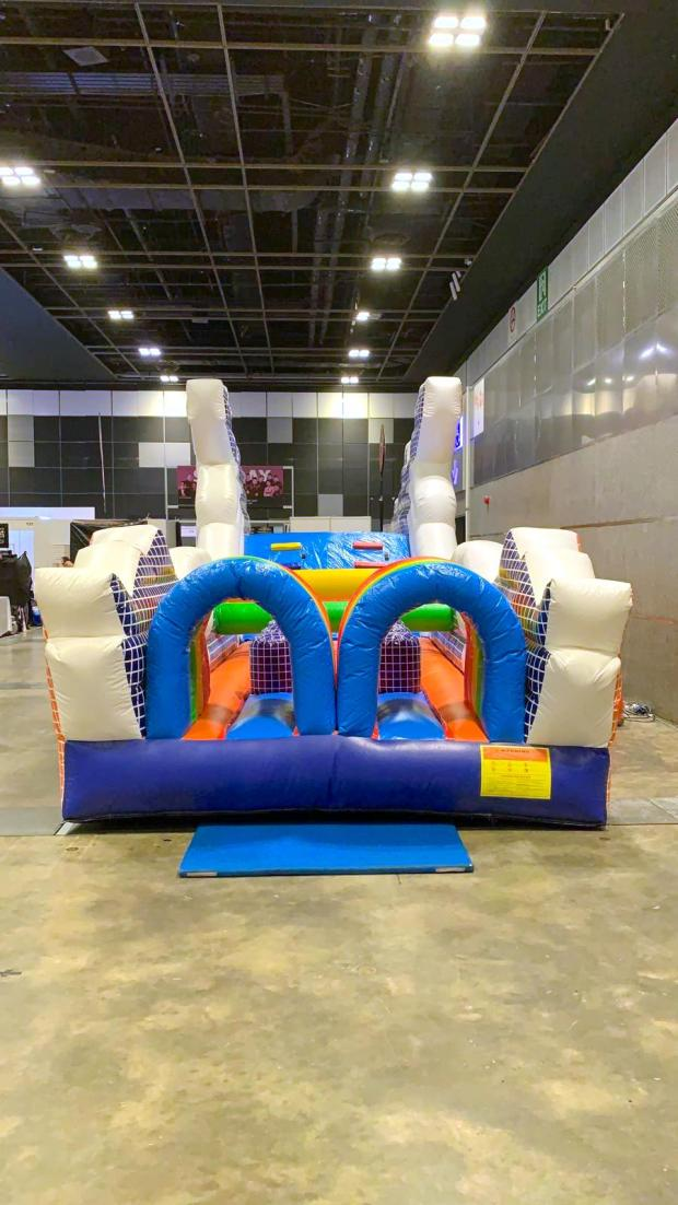 Inflatable dragon playground for rental
