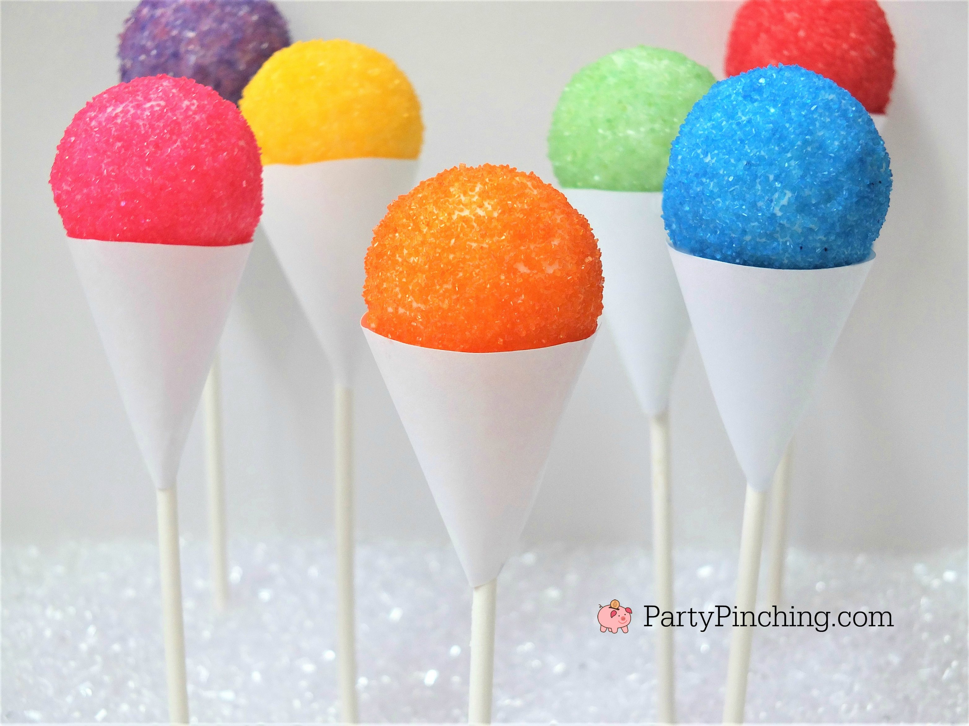 Snow Cone Cake Pops Cute Summer Treat Easy To Make