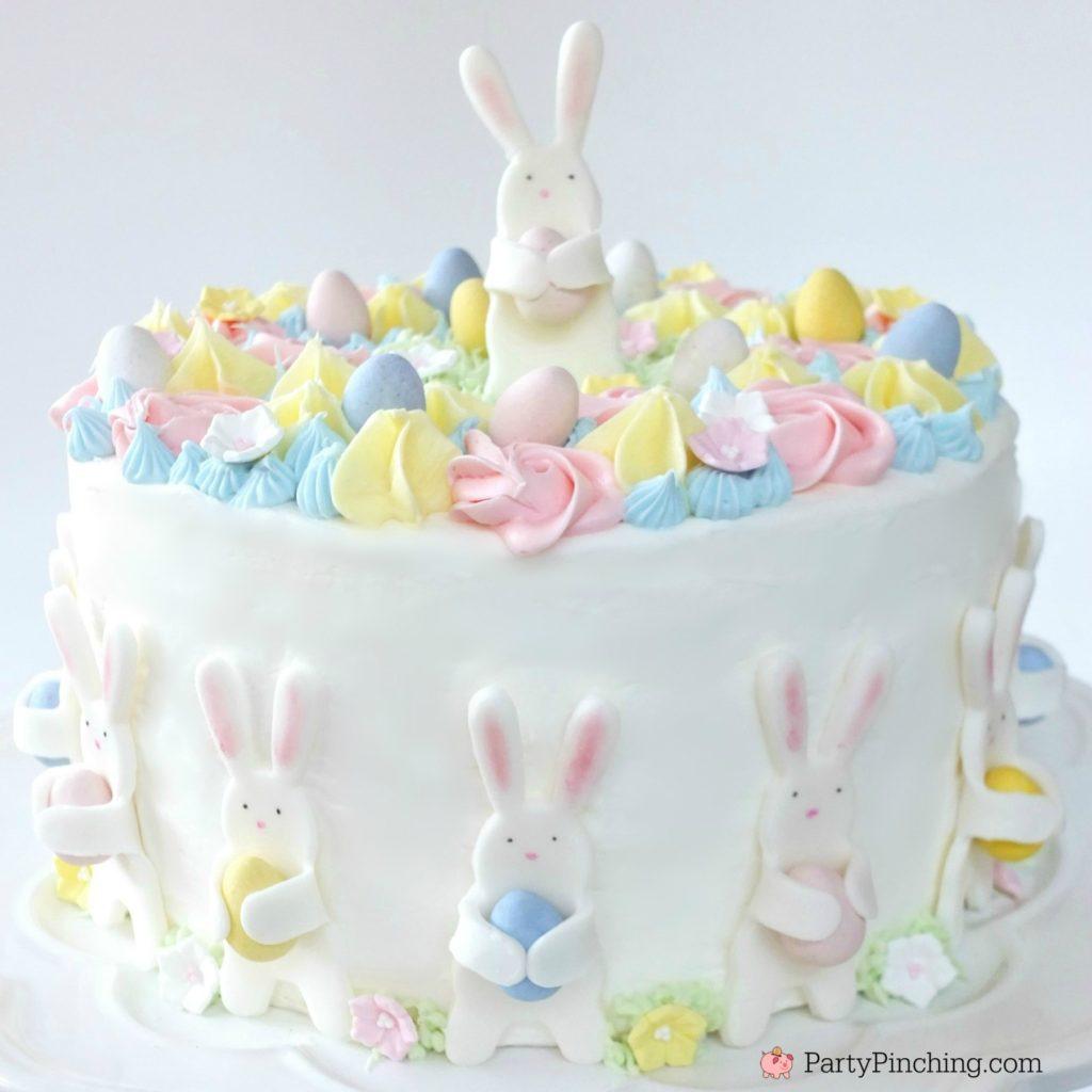 Bunny Egg Hunt Cake Cute Beautiful Pastel Cake Recipe For