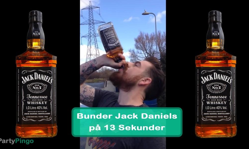Mand bunder Jack Daniels på 13 Sekunder