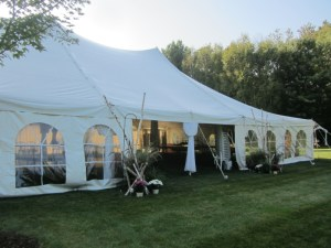 Elegant wedding tents.