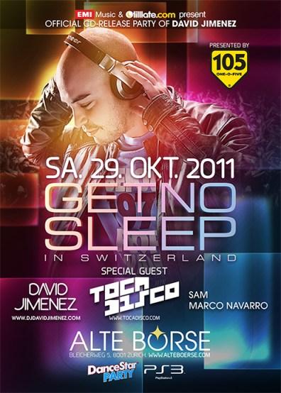 Get no Sleep Schweiz mit Tocadisco