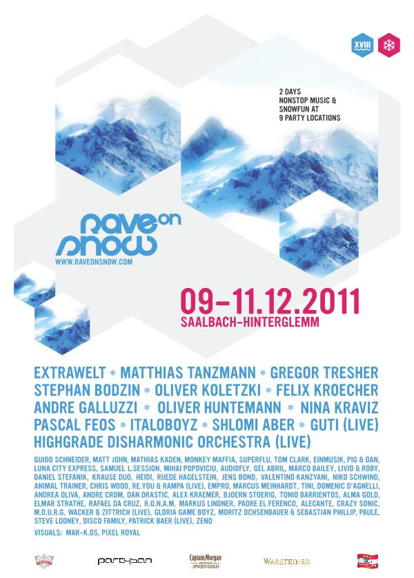 Rave on Snow Festival 2011 Plakat Anzeige by PARTYSAN