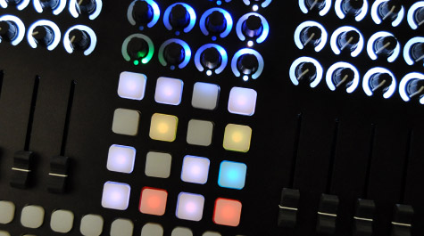 CNTRL:R is a contemporary MIDI performance instrument for creative music production. Housed in a lightweight aluminum body, this controller is ideal for live performance and studio production. Create rhythms, sequence and perform drums, launch clips, mix tracks, and have complete control over your performance with CNTRL:R's advanced set of features.