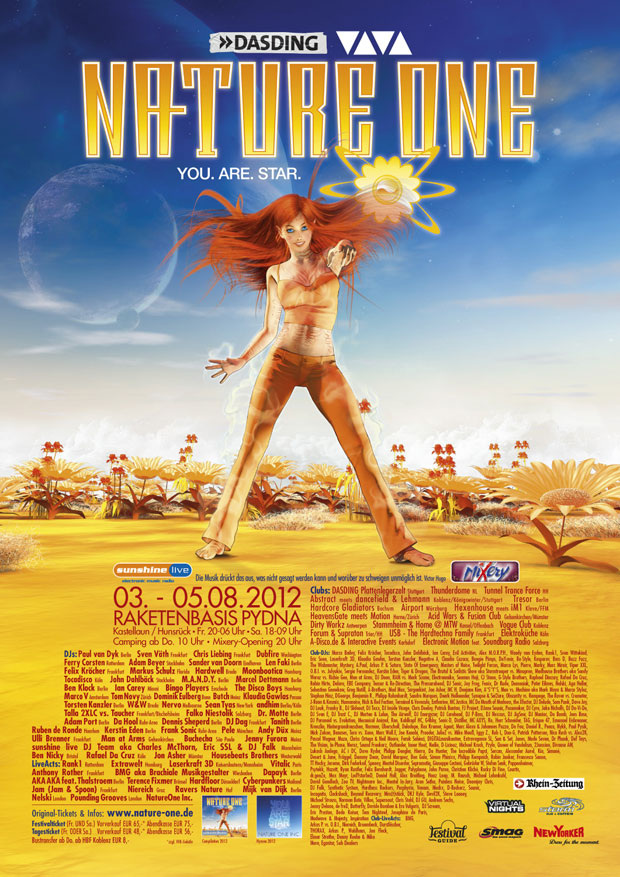 Nature One 2012 Flyer Plakat
