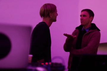 Raf Simons and Plastikman Richie Hawtin at Guggenheim Museum NYC (2013)