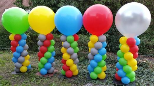 Diverse kleuren met grote top normale pilaren
