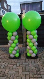 Groen/grijs met groene top normale pilaar