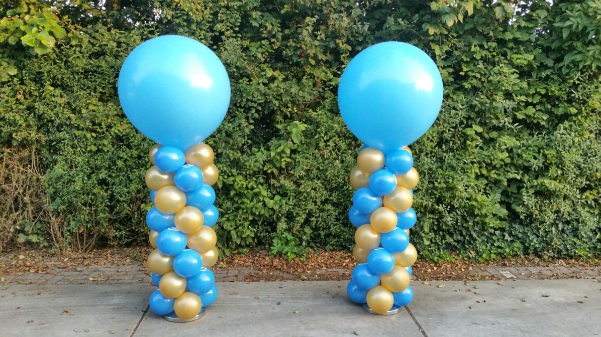 Blauw/goud met blauwe top normale pilaar