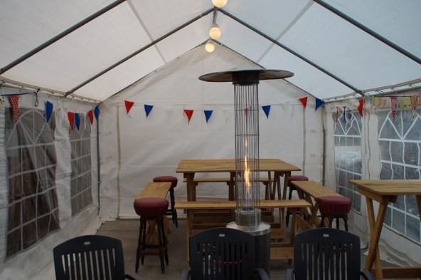 4x6 tent met Woody-line