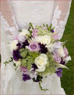 Purple, Green, Ivory Bouquet