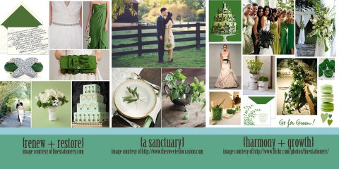 2013 spring wedding color trends emerald Green