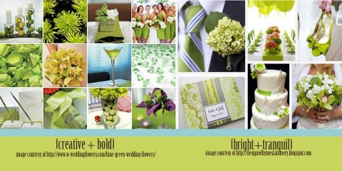2013 spring wedding color trends tender shoots lime