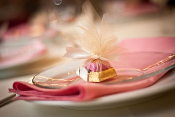 Pink and Gold Party Table Setting