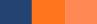 monaco blue nectarine vibrant orange colors