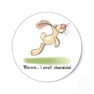 Chocolate lover bunny stickers