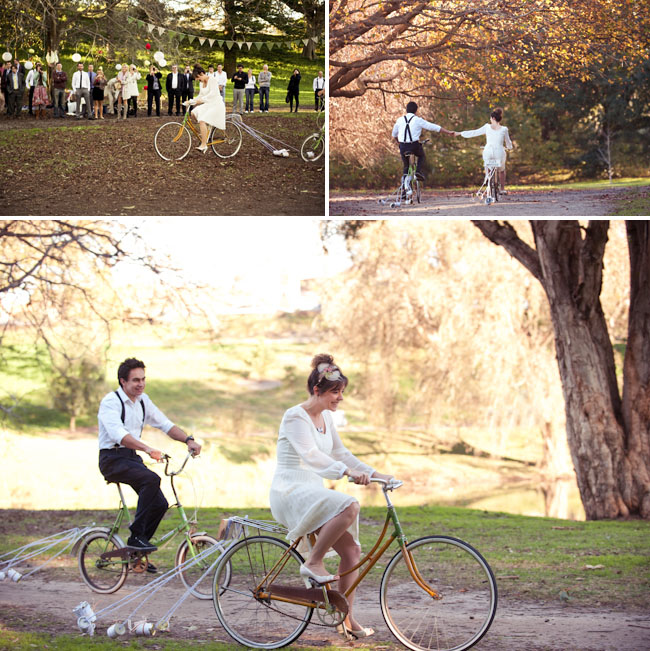 bicycle wedding inspiration
