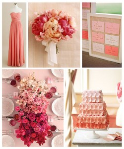 Examples of ombre wedding or bridal shower ideas