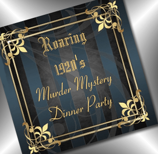murder mystery roaring 20s invitation - party simplicity