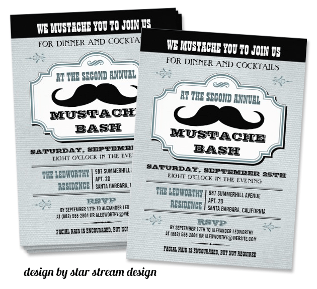 Mustache Invitation   Mustache Trend