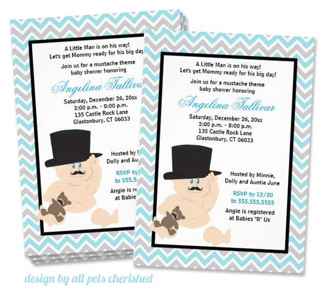 mustache bash party invitation | mustache trend