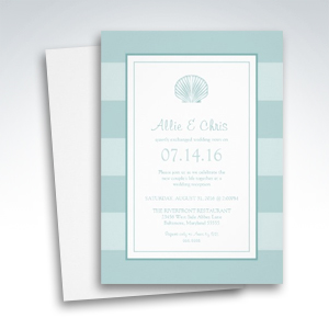 Sea shell Destination Post Wedding Reception Only Invitations