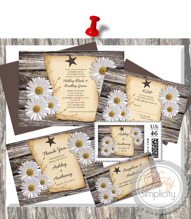 Party Simplicity Country Western Wedding Invitation